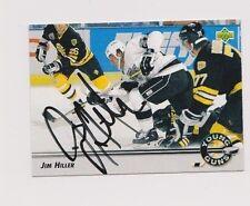 92/93 Upper Deck Jim Hiller Los Angeles Kings YG Autographed Hockey Card