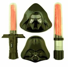 Kylo Ren Darth Vader Candy Tins with Light-Up Lightsaber Sword Suckers, Set of 4