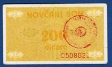 200 Dinara ND1992, Uncatalog note, Handstamp TRAVNIK Bosnia !