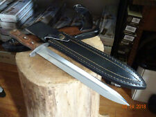 """16"""" CHIPAWAY BOWIE KNIFE RED MAPLE HANDLE 11"""" 440HC STAINLESS BLADE LEATHER SHEA"""