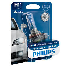 PHILIPS WHITE VISION H11 AMPOULE PHARE (1PC) LUMIERE 40% PLUS BLANCHE 12362WHVB1