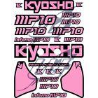 [USA] Sticker adesivi decal Kyosho Inferno MP10 alettone completo rosa