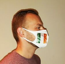 Protective Mask fully personalized with your own design, reusable - Irish Flag