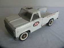 1968 Tonka Toys White Dodge Style-Side Pickup AA Service Wrecker Tow Truck #2518
