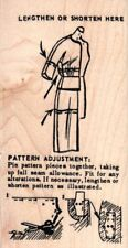 Tim Holtz Collection Pattern adjustment guide wood mounted Rubber stamp - New