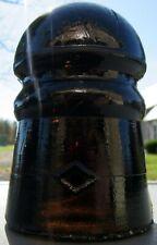 CD 102 (Pony) Diamond Glass Insulator - Root beer Amber