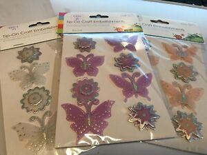 KE01 PK8 3D VELLUM FLOWERS BUTTERFLIES CARDMAKING SCRAPBOOKING JOURNAL ART PARTY