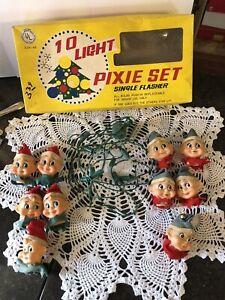 Vintage Elf Pixie Christmas Light Set--Original Box