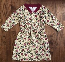 Tea Collection Boutique Girls 7 Floral 3/4 Sleeved Cotton Knit Dress EUC