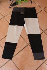 LAGENLOOK: 3 Farben Leggings BORIS INDUSTRIES 46/48 (4) NEU! schwarz/grau Grafik