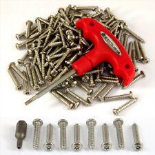 103 Pezzi Numero Targa Viti di sicurezza in acciaio inox KIT 100 Viti Torx Bit
