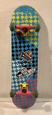 Skateboard Speed Demons Blau (kariert) mit VANS und RedBull Sticker Gebraucht