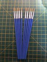 Modellers  Paint Brush Job Lot X10 Size 2 Enamel Acrylic Art Nail Art