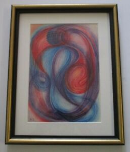 RUDOLF ZECH EXPRESSIONIST  1970'S DRAWING ABSTRACT EXPRESSIONISM NON OBJECTIVE