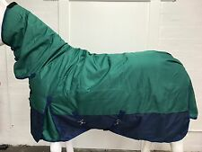 1200D R/S GREEN/NAVY 300G WINTER STABLE HORSE COMBO RUG - 6' 0