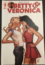 BETTY & VERONICA. NO. 1. COVER A. ADAM HUGHES COVER. VOLUME 2. ARCHIE COMICS.