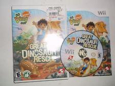 Go, Diego, Go Great Dinosaur Rescue (Nintendo Wii, 2008) COMPLETE w/ Manual