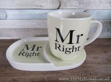 Mr right snack set mug and plate LP33598