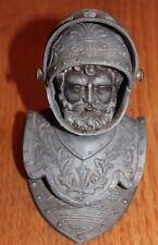 ancien encrier buste de chevalier en armure