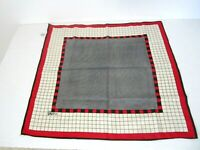 Vtg Vera Neumann Square Fashion Scarf Red/Black Check Houndstooth 21 x 21