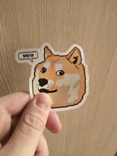 "Pixel DOGE Kabosu Sticker (3"") - Skateboard Phone Dog Retro Meme Doggo SDCC NEW"