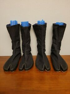 Lot of 2 Ninja Boot Shoes 12 Eye And Hook 3 Adjustable Width Size 26.0