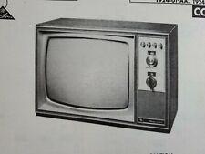 Sams Photofact Repair Service Parts Manual 1968 Magnavox T924-01-AA Color TV