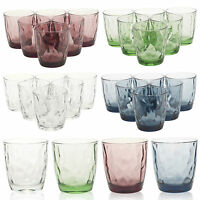 6 x Bormioli Rocco Diamond Glass Tumbler Glasses Drinking Cups Whisky Coloured