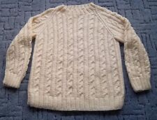 "BRAND NEW - Ladies Hand Knitted Jumper, 39"" Chest. Cable Pattern."