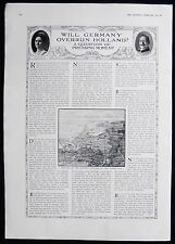 GERMAN INVASION OF NETHERLANDS QUESTION WW1 FIRST WORLD WAR ARTICLE 1917