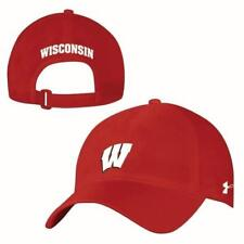 Men's Wisconsin Badgers Under Armour Airvent Alloy Adjustable Alloy Cap Hat NWT