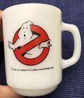 RARE! Anchor Hocking Ghostbusters Movie Milk Glass Coffee Mug/Cup SCARCE!