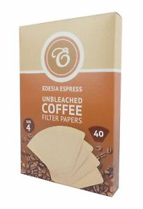 Size 4 Unbleached Coffee Filter Papers Brown Replacement Cones