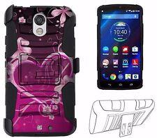 For Motorola Kinzie Droid Turbo 2 XT1585 Hybrid Fusion Case Pink