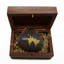 Engraved Stones River Rocks Inspirational picture Angel hand carved wooden box