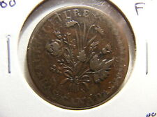 Canada, Lower, 1837 (ND), KM#Tn3, 1 Sou Token issue (penny), Fine