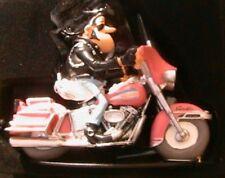 FIGURINE JOE BAR TEAM MIMILE WOKEE BIKE HARLEY DAVIDSON 1/18 MOTO RESINE