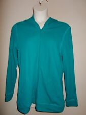 New Sports Savy Womens Size XL Green Hooded Zip Up Thermal Jacket Long Sleeves