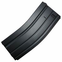 AIRSOFT TOMTAC M4 SERIES HI CAP MAGAZINE MAG 300 RDS WINDING AEG BLACK METAL
