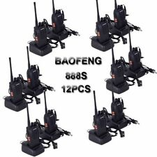 12x Baofeng BF-888S Walkie-Talkie UHF 400-470MHz con auricular 16 canal 5W CTCSS
