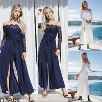 Women's Lace Off Shoulder Shoulder Lady Summer Beach Party Dress Fashion Dress