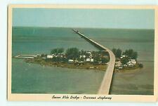 Key West Florida Seven Mile Bridge Overseas Highway Vtg. White Boarder Sc #1031