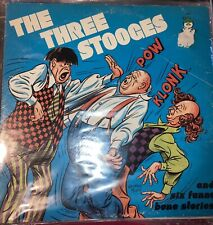 THE THREE STOOGES & SIX FUNNY BONE STORIES (VG+) 8098 LP VINYL RECORD