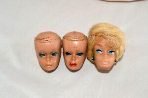 1960'S VINTAGE BARBIE TLC HEADS LOT  HALLOWEEN OOAK THE BLONDE BUBBLECUT PRETTY