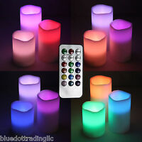 3 pc Color Changing Flameless Battery Operated LED Candles Remote Control Timer