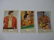 ELVIS PRESLEY CARDS - 1950 HOLLAND GUM - LOT OF 3 CARDS