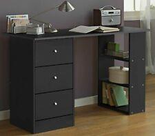 Home Malibu 3 Drawer Office Desk - Black