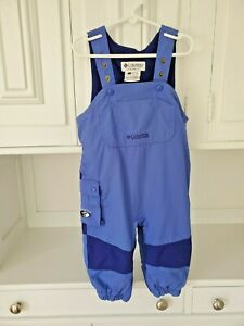 Columbia Tectonite Snow Ski Bibs Overalls Pants Lined Blue Size 2T Easy Bathroom