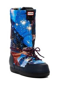 Hunter Boots Galaxy Insulated Winter Moon Space Women's Size 11