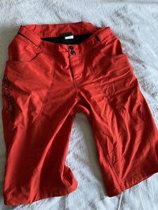 "Troy Lee Designs Skyline MTB Shorts Red 32"" Waist Mountain Bike"